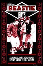 Beasie Boys 1987 Tour Poster