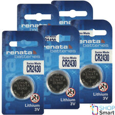 5 RENATA CR2430 LITHIUM BATTERIES 3V CELL COIN BUTTON SWISS MADE EXP 2025 NEW