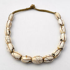 UNS146 Naga Sacred White Conch Chank Shell 20'' Necklace Ethnic Tribal Nepal