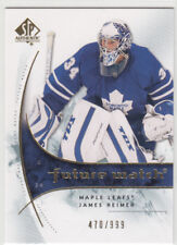 2009-10 SP Authentic Future Watch  #164 James REIMER  RC  - Florida Panthers