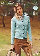Stylecraft 9013 Knitting Pattern Cardigans in Stylecraft Alpaca Tweed DK