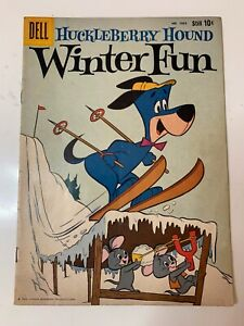 Four Color #1054 Huckleberry Hound Winter Funn Dell 1959 NICE