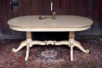 EN PROMOTION: Table de repas salle à manger doré à la feuille d'or d'un château