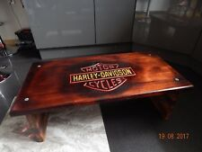 hand crafted Harley Davidson coffee table