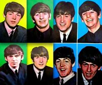 Beatles 1964 Vintage Postcard Set of 5 Paul John George Ringo Original EX COA