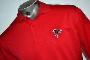27373-a Mens Antigua Golf Polo Shirt Size Large Atlanta Falcons Football NFL Red