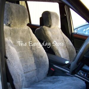 Custom Made Sheepskin Seat Covers All Over Front 3 Seat Renault Trafic 30MM