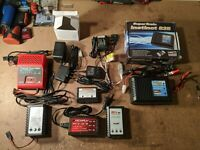 Rc car lot, chargers, batteries, transmitter