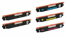 5pk CE310A CE311 BCMY Toner Cartridge for HP Color LaserJet Pro 100 M175a MFP