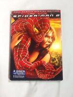Spider-Man 2 (DVD, 2004, 2-Disc Set, Special Edition, Fullscreen)