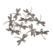 10pcs Dragonfly Tibetan Silver Bead charms Pendants fit DIY 15*18mm