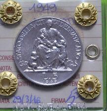 CITTA' DEL VATICANO PIO XII 5 LIRE 1949 SIGILLATA FDC SUBALPINA