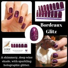 Color Street BORDEAUX GLITZ 100% nail polish strips