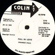 "FRANKIE PAUL fall in love CF8 jamaican colin fat records 1992 12"" CS EX/EX"