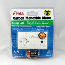 Kidde Carbon Monoxide CO Alarm Detector 7CO 10 Year Long Life Gas Safety Boiler