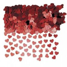 Ruby Red Heart Wedding Confetti Table Decoration Party Sprinkles