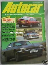 Autocar 21/4/1984 featuring Jaguar XJ-S, Peugeot 205GTi, Toyota Corolla GT, Colt