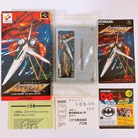 Axelay Super Famicom Nintendo SFC SNES Japan Game Very Good!