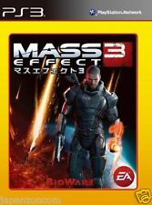 Used PS3  Mass Effect 3 SONY PLAYSTATION 3 JAPAN JAPANESE IMPORT