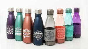 H&H Hydration Station Personalised Water Bottles & Flasks - Drinks/Gym Bottles