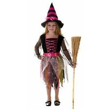 Pink Witch Cute Halloween Costume Fancy Dress Hat Girls 4-12 Years
