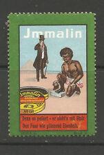 Immalin Shoe Polish advertising stamp/label (Native African Tribesman #F)