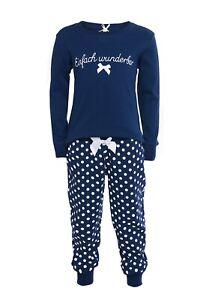 "LOUIS & LOUISA  "" Einfach Wunderbar "" Pyjama Bündchenhose blau Gr. 92 - 116 NEU"