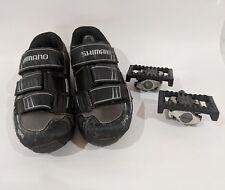 Shimano Mens Shoes SH-M121G US 8.5 / M520 R&L Pedal Cleats SM-PD22 Reflectors