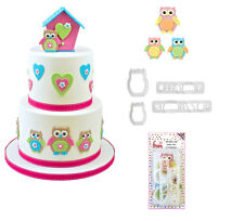 FMM Mummy & Baby Owl cutter set of 4