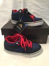 Genuine Emerica Hsu Jóvenes Niños Azul Marino/Azul Rojo Zapatillas De Skate tamaño de Reino Unido 10 Nuevo Y En Caja