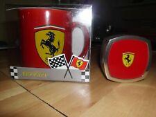 Original Ferrari Becher / Tasse rot Scuderia SF Logo mit Deko Kolben