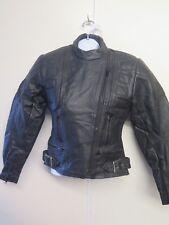 Vintage 80's Belstaff Leather Twin Track Motorcycle Jacket UK 10 Euro 38 - Black