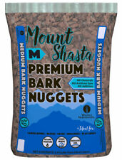Nulife WMS03212 2 Cubic Feet Medium Mount Shasta Premium Bark Nuggets