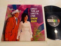 Ernest Tubb And Loretta Lynn Singin' Again LP Decca Spectrum Stereo VG+!!!