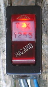 1977 ALFA ROMEO SPIDER HAZARD SWITCH RED FACE OEM TORRIX