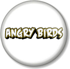 "Angry Birds Logo 25mm 1"" Pin Button Badge iPhone iPad App Computer Game Red Bird"