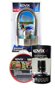 Kovix Triple Combo - KVH-96 Alarmed Trailer Lock, Bike Lock & Security Cable