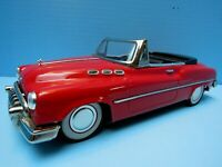 "VTG. 1950's TIN PLATE FRICTION DRIVEN RED BUICK CONVERTIBLE (11"") MADE IN JAPAN"