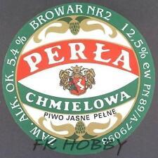 Poland Brewery Lublin Perła Mocna Beer Label Bieretikett Etiqueta Cerveza lu51.2