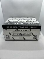 2020 PANINI PRIZM NFL FOOTBALL FACTORY SEALED CELLO BOX 12 PACKS IN HAND