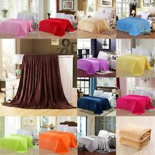 Soft Throw Blanket Plush Fleece Flannel Couch Sofa Bed 22 Solid Colors Soft Warm