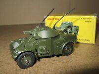 630H Vintage Dinky 814 France AML Panhard Blindé Militaire de l 'Armée + Boite