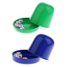 2Pcs Dice Cup &12 Acrylics Digital Dices for  Dice Game Guessing Tool