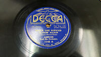 """AMBROSE When The Poppies Bloom Again / Nobody's Darling But Mine 10"""" Decca 1142"""