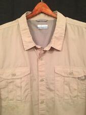 Columbia Sportswear Men's Khaki Outdoirs Hiking Shirt, XXL