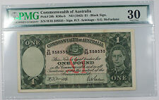 ND 1942 Commonwealth of Australia £1 One Pound Note Pick# 26b PMG Very Fine 30