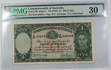ND 1942 Commonwealth of Australia £1 One Pound Note Pick# 26b PMG Very Fine 30