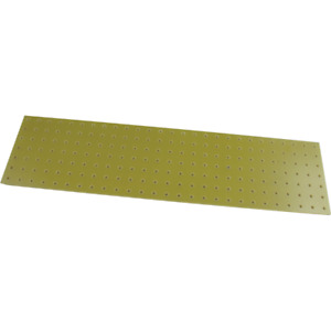 """Turret Board, Blank, 189 Holes, 10-1/8"""" x 2-5/8"""", Color: Yellow"""
