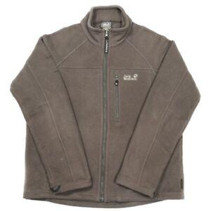 JACK WOLFSKIN Nanuk Fleece Jacket | Large | Hiking Walking Thick Full Zip