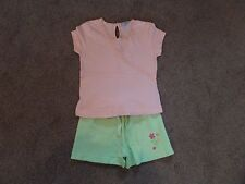 Super mignon!!! fille George Tenue Top & Shorts 2-3 ans Peach & Green -- faible Start